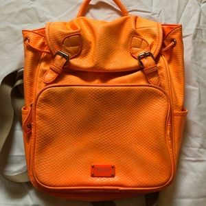 Neon orange Nine West backpack